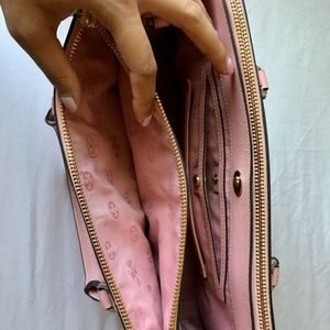 Tory Burch Bags - TORY BURCH Robinson Mini Double Zip Tote Rose Pink